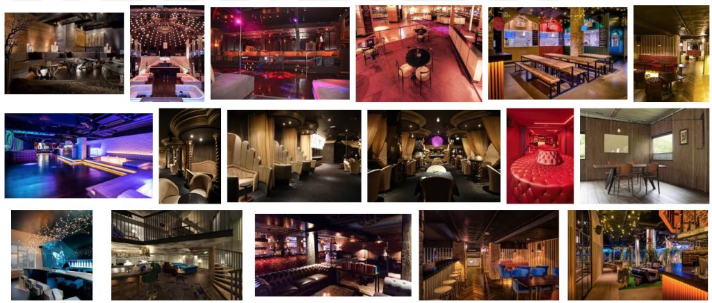 SWFs of swingers clubs interiors